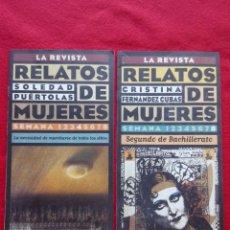 Libros de segunda mano: RELATOS DE MUJERES LA REVISTA 4 Y 8 30 CMS 1996 150 GRS . Lote 99127215