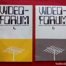 Libros de segunda mano: VIDEO - FORUM REVISTA CIENCIAS Y ARTES DE LA COMUNICACION AUDIOVISUAL NUMS 4 Y 6 450 GRS 23 CMS 1979. Lote 99130203
