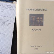 Libros de segunda mano: TRANSGRESORAS. VOCES DE MUJERES. POEMAS.. Lote 99198702
