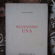 Libros de segunda mano: RECORDATORIO USA, DE LAZARO SANTANA. SOLO 500 EJEMPLARES (POESÍA CANARIA, POETA CANARIO, CANARIAS). Lote 99295871