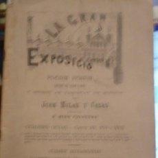 Libros de segunda mano: LA GRAN EXPOSICIÓ POESIA FESTIVA - JOAN MOLAS Y CASAS - PORTAL DEL COL·LECCIONISTA . Lote 99537167