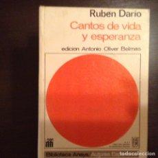Libros de segunda mano: CANTOS DE VIDA Y ESPERANZA. RUBÉN DARÍO. Lote 99702131
