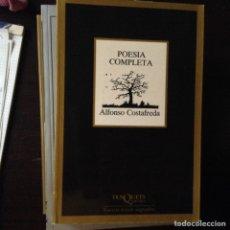 Libros de segunda mano: ALFONSO COSTAFREDA. POESÍA COMPLETA. Lote 100108672