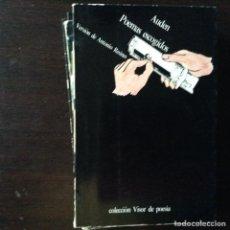Libros de segunda mano: POEMAS ESCOGIDOS. AUDEN. Lote 100136407