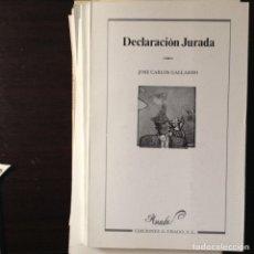 Libros de segunda mano: MITOLOGÍA PERSONAL. JOSÉ ANTONIO MORENO. Lote 100359036