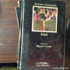 Libros de segunda mano: EDAD. ANTONIO GAMONEDA. Lote 100448110