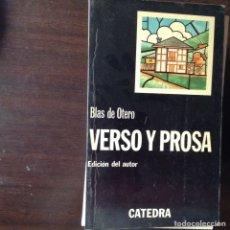 Libros de segunda mano: VERSO Y PROSA. BLAS DE OTERO. Lote 100449918