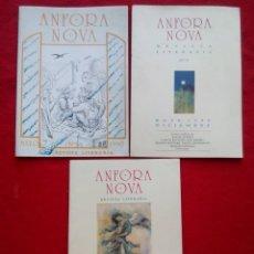Libros de segunda mano: ANFORA NOVA REVISTA DE LITERATURA NUMS 3 5 6-7 450 GRS 24 CMS 1990. Lote 101058507