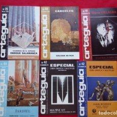 Libros de segunda mano: ARTEGUIA NUMS 35 40 41 (42+SEPARATA) 44 1978 21 CMS 800 GRS. Lote 101060323