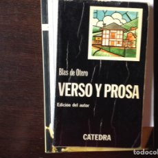 Libros de segunda mano: VERSO Y PROSA. BLAS DE OTERO. Lote 101423204