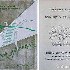 Libros de segunda mano: YARZA, PÁLMENES (1916-2007). ESQUEMA POÉTICO. 1959.. Lote 101850743