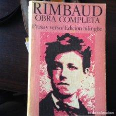 Libros de segunda mano: RIMBAUD. OBRA COMPLETA. PROSA Y VERSO. BILINGÜE. Lote 101960859