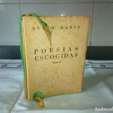 Libros de segunda mano: 83-POESIAS ESCOGIDAS, RUBEN DARIO, TOMO II, 1951, AFRODISIO AGUADO. Lote 102075523