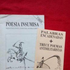 Libros de segunda mano: POESIA INSUMISA 400 GRS 32 CMS GOYTISOLO. Lote 104349827