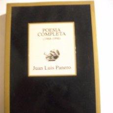 Libros de segunda mano: POESIA COMPLETA 1968 - 1996 JUAN LUIS PANERO . Lote 104719047