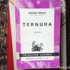 Libros de segunda mano: TERNURA. GABRIELA MISTRAL. Lote 104756556