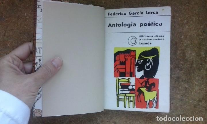 Libros de segunda mano: Antología poética (1918-1936) / Federico García Lorca. Losada ¡¡ Encuadernación artesanal !! - Foto 7 - 105485519