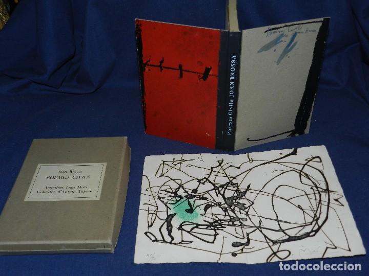 JOAN BROSSA - POEMES CIVILS , AIGUAFORT JOAN MIRO , COBERTES D'ANTONI TAPIES , EDICIO 21/ 90 (Libros de Segunda Mano (posteriores a 1936) - Literatura - Poesía)