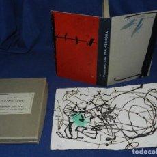 Libros de segunda mano: JOAN BROSSA - POEMES CIVILS , AIGUAFORT JOAN MIRO , COBERTES D'ANTONI TAPIES , EDICIO 21/ 90. Lote 105929443
