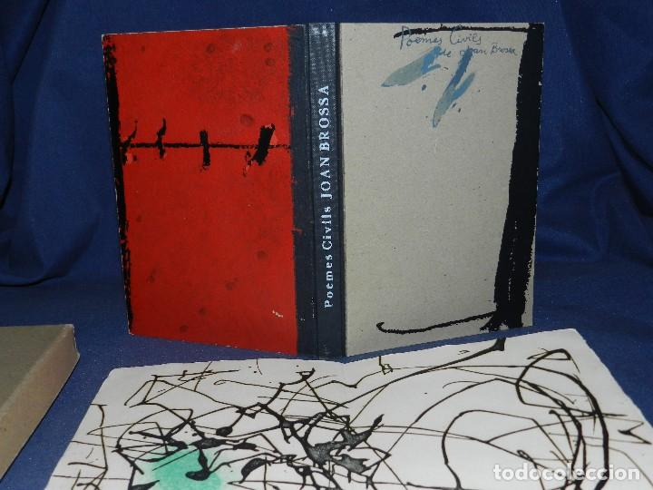 Libros de segunda mano: JOAN BROSSA - POEMES CIVILS , AIGUAFORT JOAN MIRO , COBERTES DANTONI TAPIES , EDICIO 21/ 90 - Foto 2 - 105929443