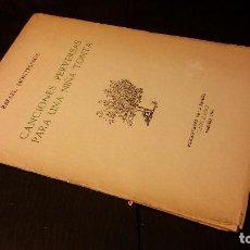 Libros de segunda mano: 1946 - RAFAEL MONTESINOS - CANCIONES PERVERSAS PARA UNA NIÑA TONTA - 1ª ED., DEDICATORIA DEL AUTOR. Lote 106082851