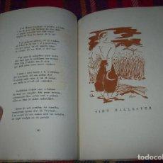 Libros de segunda mano: LA TERRA AL COR.POEMES.EXEMPLAR NUMERAT I SIGNAT PER GUILLEM COLOM. DIBUIXOS MARTÍNEZ PAVIA. 1957. Lote 107546735