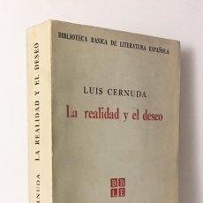 Libros de segunda mano: LUIS CERNUDA : LA REALIDAD Y EL DESEO. (INCLUYE DESOLACIÓN DE LA QUIMERA. HABANA, 1965. Lote 109686747