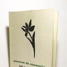 Libros de segunda mano: JULIO MARISCAL : POEMAS DE AUSENCIA (1ª ED. 1957. COLECC LAZARILLO. Lote 205644490