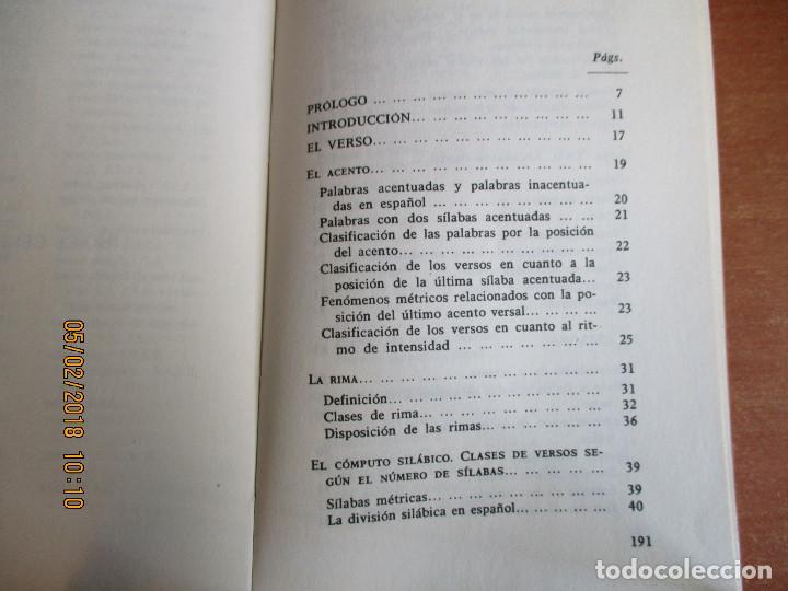 Libros de segunda mano: MÉTRICA ESPAÑOLA Antonio Quilis Ediciones Alcalá 3ª Edicion 1975 - Foto 3 - 111559883