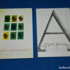 Libros de segunda mano: (MF) MIGUEL HERNANDEZ - POETA , HOMENAJE , LA GENERAL , GRANADA 1994 , DOS LIBROS + ESTUCHE. Lote 111701867