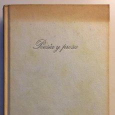 Libros de segunda mano: POESIA Y PROSA FRANCISCO QUEVEDO Y VILLEGAS CIRCULO 1976. Lote 111844255