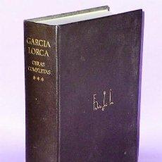 Libros de segunda mano: OBRAS COMPLETAS DE FEDERICO GARCÍA LORCA. TOMO III.- PROSA - DIBUJOS. (EDICIÓN DEL CINCUENTENARIO). Lote 172154028