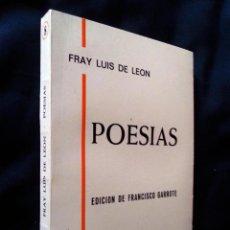 Libros de segunda mano: POESÍAS | FRAY LUIS DE LEÓN | ALMAR 1982. Lote 112892443