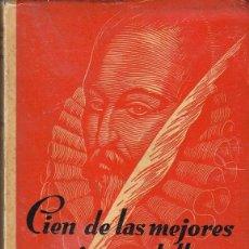 Libros de segunda mano: PEDRO HENRIQUEZ UREÑA - SELECCION DE CIEN DE LAS MEJORES POESIAS CASTELLANAS. Lote 113942567