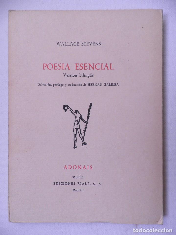 POESIA ESENCIAL .WALLACE STEVENS.EDICONES RIALP 1974 (Libros de Segunda Mano (posteriores a 1936) - Literatura - Poesía)