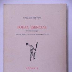 Libros de segunda mano: POESIA ESENCIAL .WALLACE STEVENS.EDICONES RIALP 1974. Lote 206968841