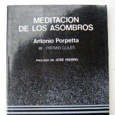 Libros de segunda mano: MEDITACIÓN DE LOS ASOMBROS, DE ANTONIO PORPETTA. Lote 115621899