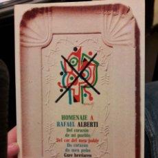 Libros de segunda mano: HOMENAJE A RAFAEL ALBERTI. DEL CORAZÓN DE MI PUEBLO. ED. PENINSULA 1977. Lote 116120310