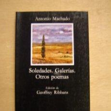 Libros de segunda mano: SOLEDADES - GALERÍAS - OTROS POEMAS - ANTONIO MACHADO. Lote 116334507