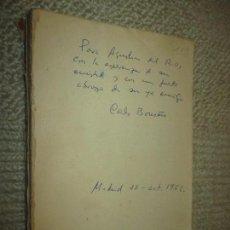 Libros de segunda mano: POESÍAS COMPLETAS, PRIMAVERA DE LA MUERTE, POR CARLOS BOUSOÑO, DEDICATORIA AUTÓGRAFA, 1960. Lote 116621327