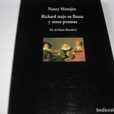 Libros de segunda mano: RICHARD TRAJO SU FLAUTA Y OTROS POEMAS.´NANCY MOREJÓN, EDIC. MARIO BENEDETTI.- VISOR 1999. Lote 175792275