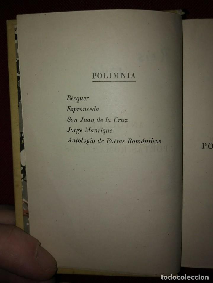 Libros de segunda mano: 1942 ANTOLOGÍA DE POETAS ROMÁNTICOS Bécquer, Espronceda, San Juan de la cruz, Jorge Manrique - Foto 6 - 141169302