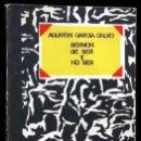 Libros de segunda mano: SERMON DE SER Y NO SER - GARCIA CALVO , AGUSTÍN . VISOR 1973. Lote 117970483