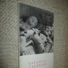 Libros de segunda mano: ESTATUAS YACENTES, POR JOSÉ HIERRO, 1ª ED. SANTANDER, 1955. TALLER ARTES GRÁFICAS HNOS. BEDIA. Lote 118801795