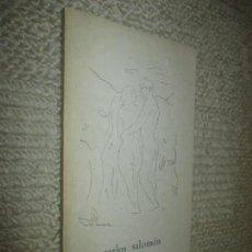Libros de segunda mano: CARLOS SALOMÓN ANTOLOGÍA, POR PABLO BERTRÁN DE HEREDIA, SANTANDER, 1968, IMPRENTA BEDIA. Lote 118802135