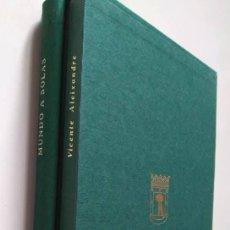 Libros de segunda mano: VICENTE ALEIXANDRE: MUNDO A SOLAS. ALEJANDRO DUQUE AMUSCO: DESTINO DEL HOMBRE. Lote 119358507