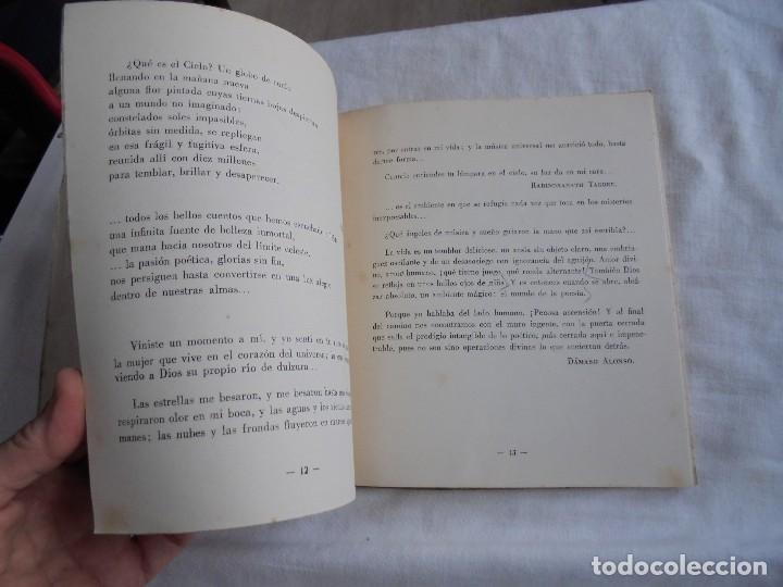 Libros de segunda mano: FIRMAMENTO HUMANO (POEMAS)PEDRO G.ARIAS.PROLOGO DE CONCHA ESPINA MADRID 1950.FIRMADO Y DEDICADO POR - Foto 8 - 121788627