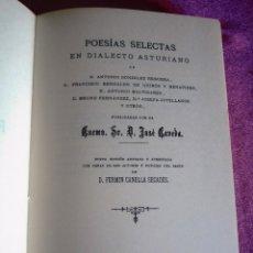 Libros de segunda mano: POESIAS SELECTAS EN DIALECTO ASTURIANO. BABLE CAVEDA Y FERMÍN CANELLA. Lote 121989011