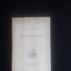 Libros de segunda mano: OCASION DONDE AMARTE. JOSÉ CORREDOR. Lote 123375699