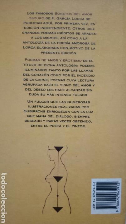 Sonetos Del Amor Oscuro Poemas De Amor Y Erotismo Federico García Lorca